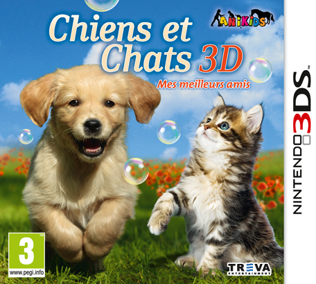 chiens et chats 3d mes meilleurs amis nintendo 3ds jeux nintendo. Black Bedroom Furniture Sets. Home Design Ideas