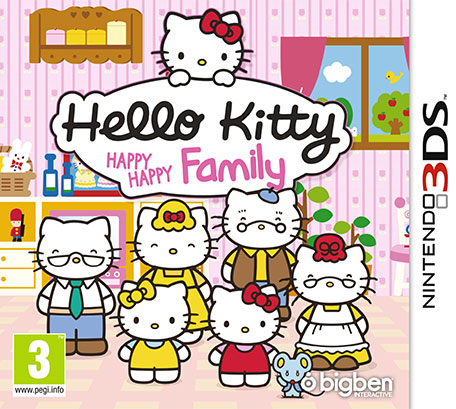 hello kitty happy happy family nintendo 3ds jeux. Black Bedroom Furniture Sets. Home Design Ideas