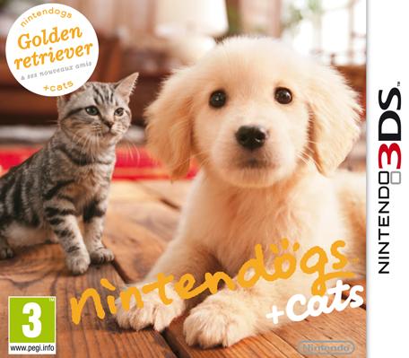 nintendogs cats golden retriever ses nouveaux amis nintendo 3ds jeux nintendo. Black Bedroom Furniture Sets. Home Design Ideas