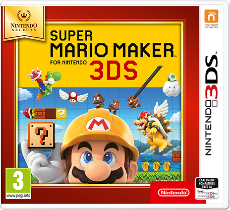 super mario maker for nintendo 3ds nintendo 3ds jeux nintendo. Black Bedroom Furniture Sets. Home Design Ideas