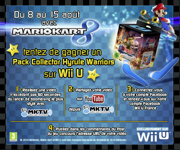 Tentez De Gagner Un Pack Collector Hyrule Warriors Avec Le Concours Mario Kart 8 News Nintendo