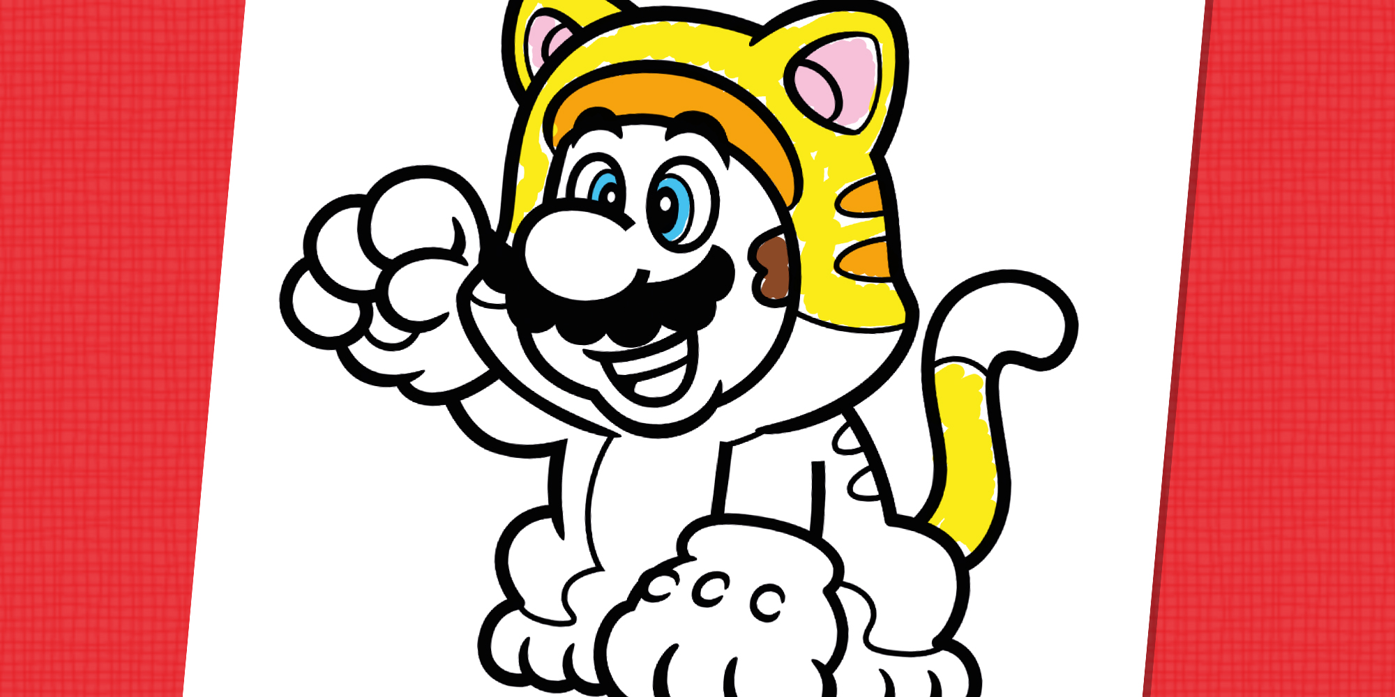 Katzen Mario Zum Ausmalen Nintendo Kids Club
