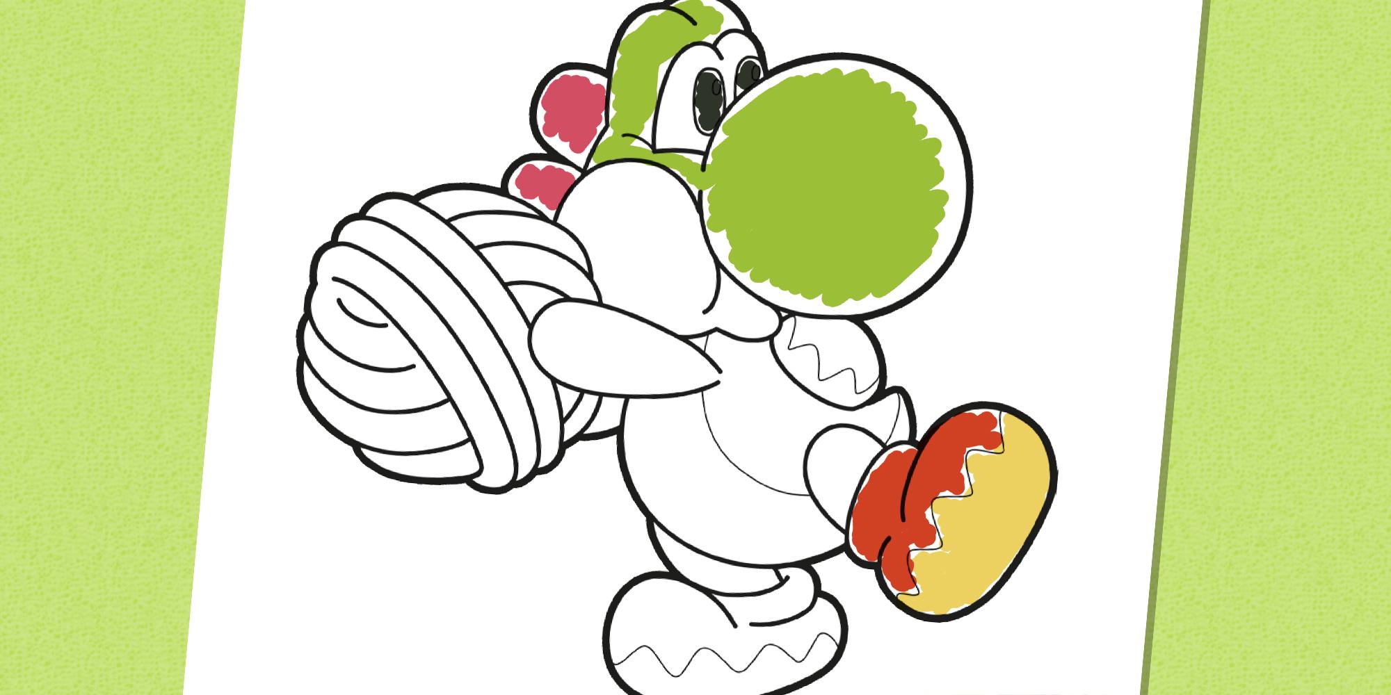 Yoshi à Colorier Nintendo Kids