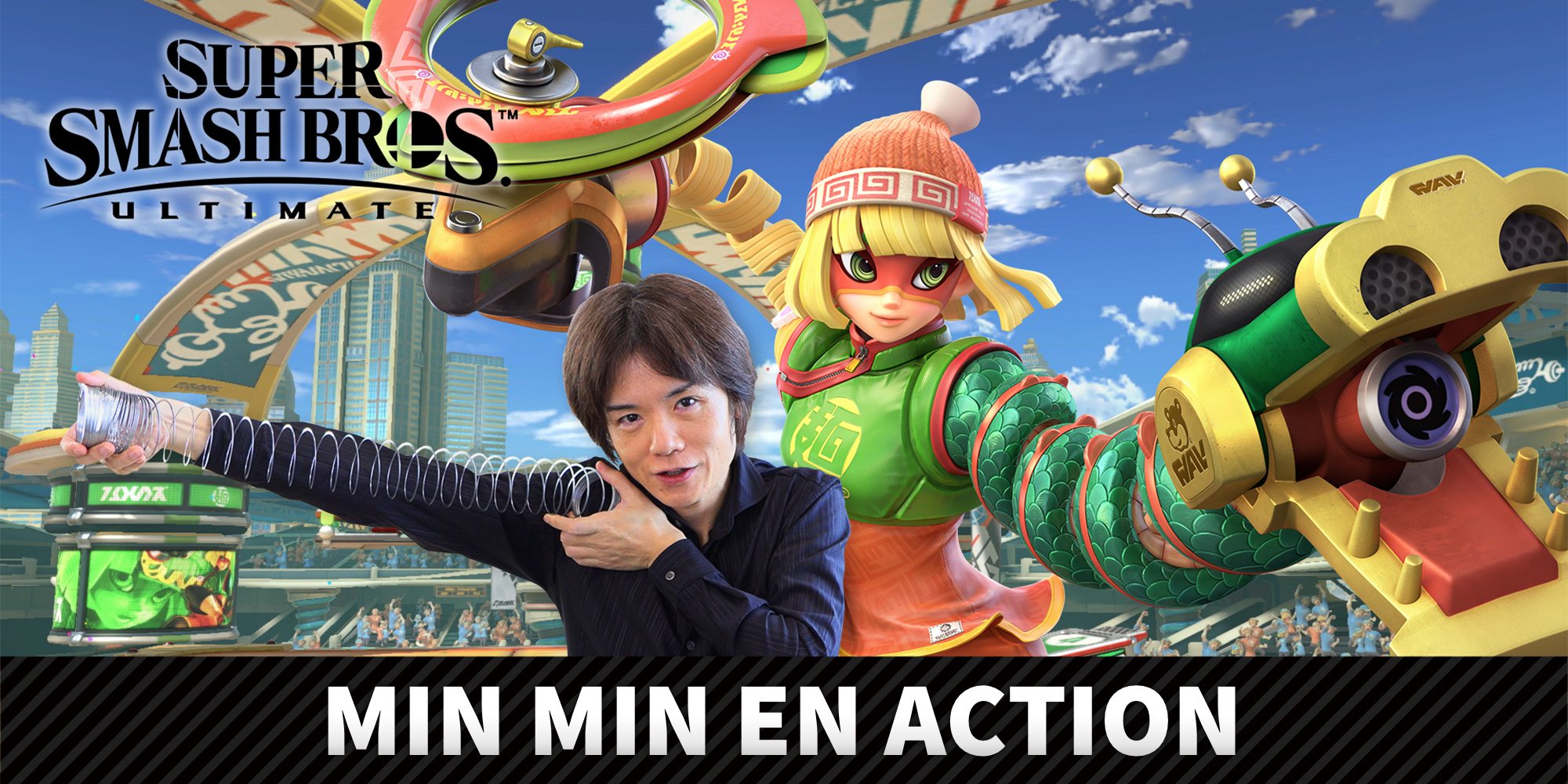 Min Min du jeu ARMS rejoint le casting de Super Smash Bros. Ultimate le 30 juin !
