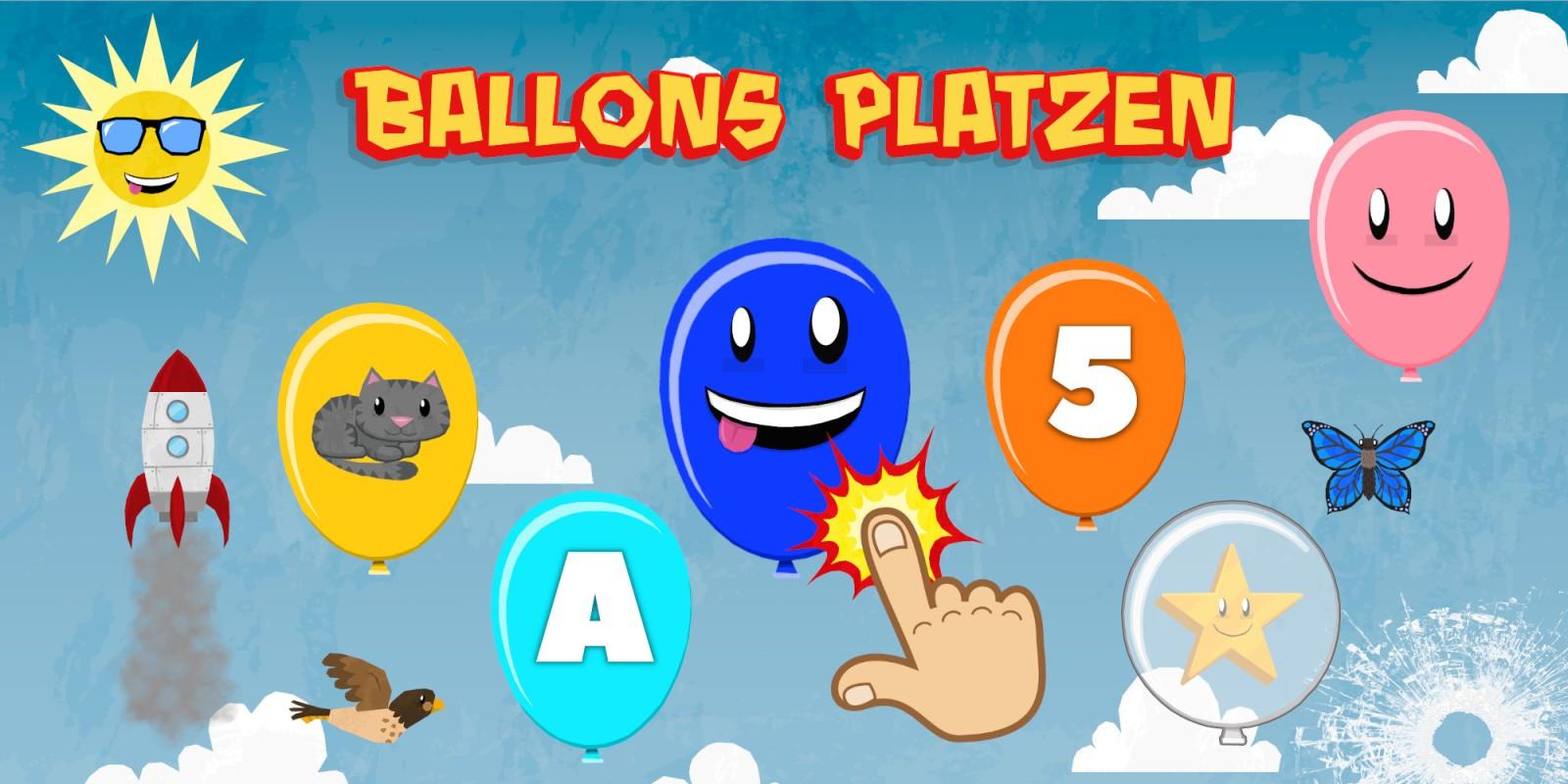 Ballons Platzen für Kinder & Kleinkinder - Zahlen, Buchstaben, Farben & Tiere lernen