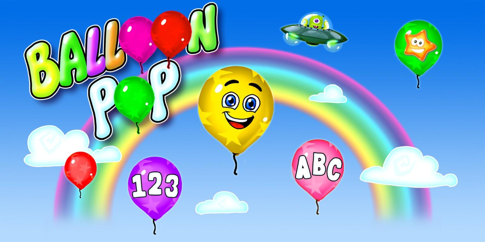Balloon Pop - Ballons & Luftballons Platzen Spiel für Kinder & Kleinkinder - Lerne Zahlen, Buchstaben, Formen, Farben in 14 Sprachen
