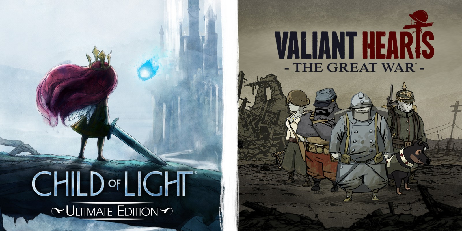 Child of Light Ultimate Edition & Valiant Hearts: The Great War Bundle