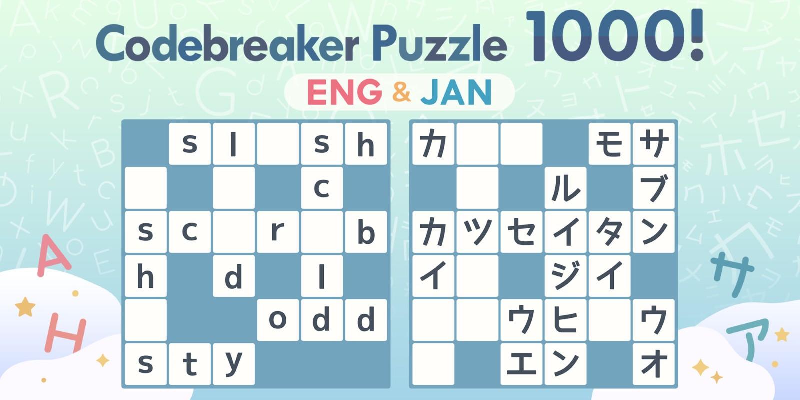 Codebreaker Puzzle 1000! ENG & JAN