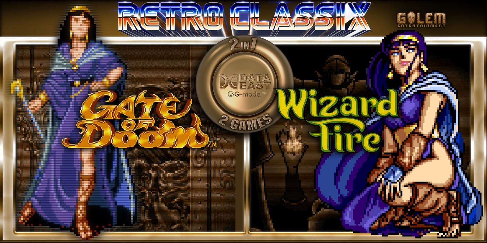 Retro Classix 2-in-1 Pack: Gate of Doom & Wizard Fire