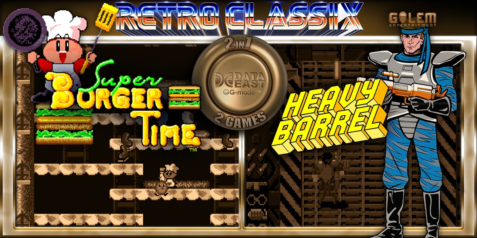 Retro Classix 2-in-1 : Heavy Barrel & Super BurgerTime
