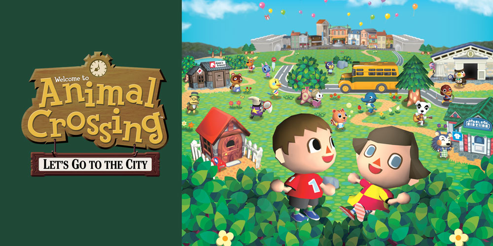 Animal crossing let s go to the city wii jeux nintendo for Agrandissement maison animal crossing wii
