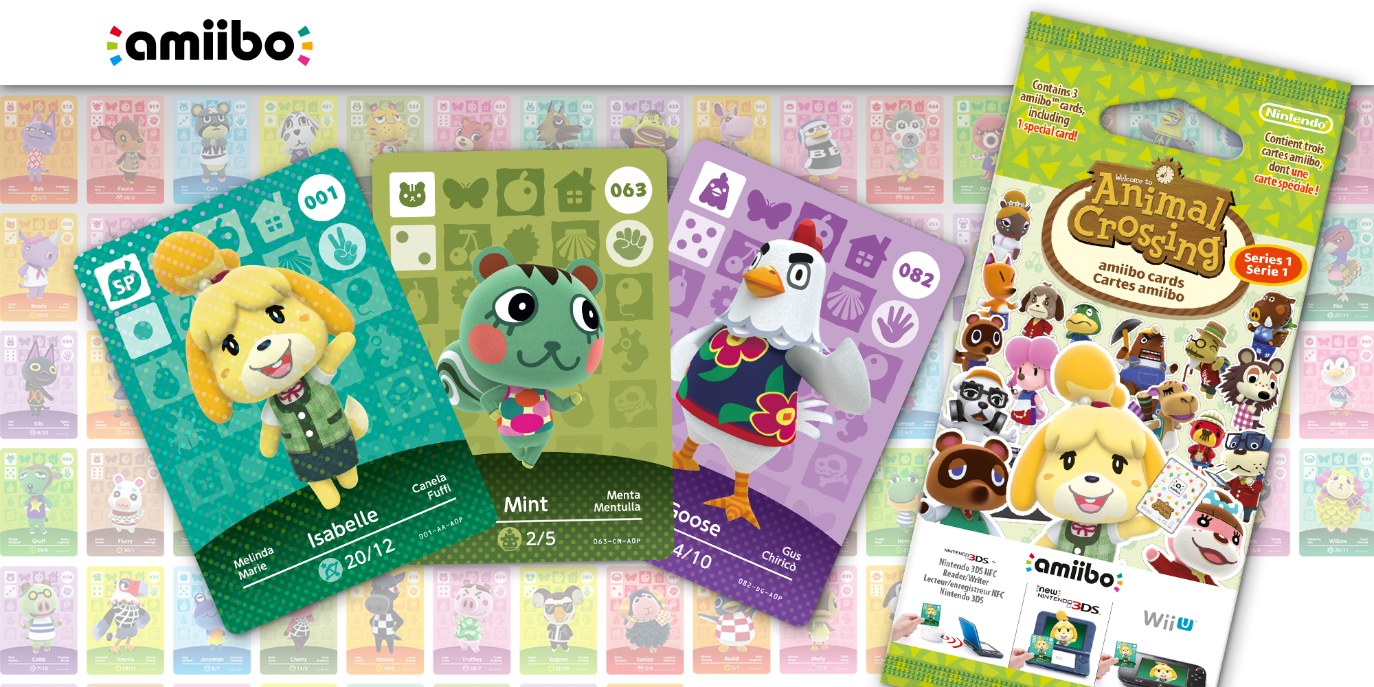 Cartes Amiibo Animal Crossing Srie 1