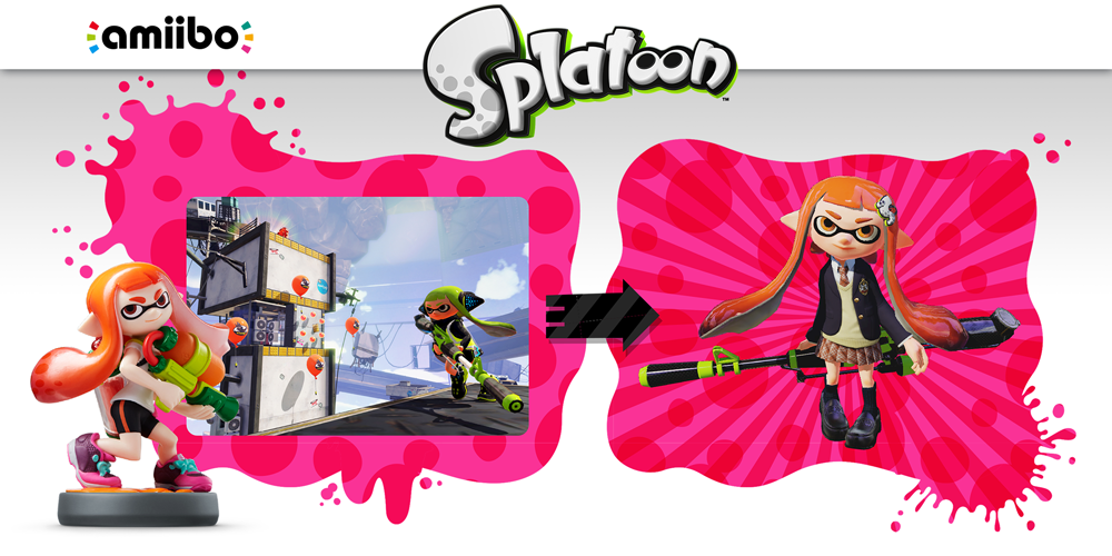 Inkling Splatoon Belly Button: Splatoon Collection