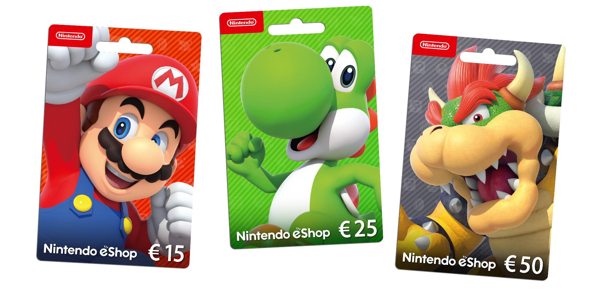 Carte Cadeau Nintendo Eshop.Nintendo Eshop Cards Famille Nintendo 3ds Nintendo