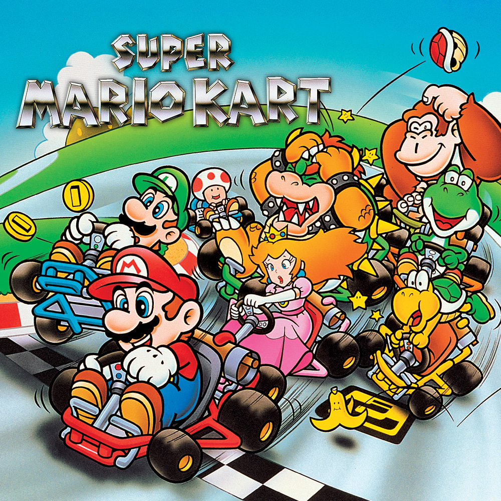 super mario kart super nintendo jeux nintendo. Black Bedroom Furniture Sets. Home Design Ideas
